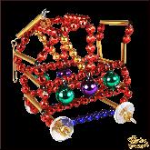 Ёлочная игрушка ручной работы пр-во Чехия Детская коляска