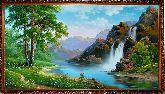 Озеро у водопада