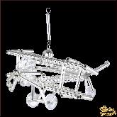 Ёлочная игрушка ручной работы пр-во Чехия Самолёт