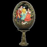 Пасхальное яйцо деревянное Чаепитие