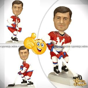 Кукла шарж хоккеисту «Супер-хоккей» 20см.