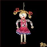 Ёлочная игрушка ручной работы пр-во Чехия Кукла