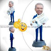 Кукла шарж начальнику «Персональная визитница»