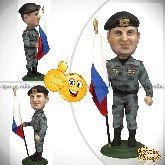 Кукла шарж военному «Бравый ОМОН»