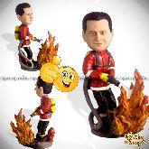 Кукла шарж пожарному «Горящее сердце»
