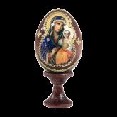 Пасхальное яйцо деревянное с наклейкой Неувядаемый цвет