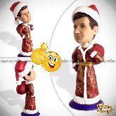 Кукла шарж к новому году «Дед мороз»