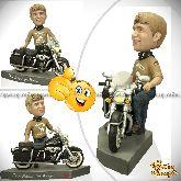 Кукла шарж мотоциклисту «Свободный как ветер»