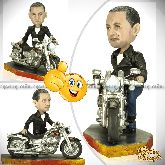 Кукла шарж мотоциклисту «Harley-Davidson»