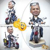 Кукла шарж байкеру «Активный байкер»