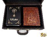 Библия с иконой в кожаном дипломате №1
