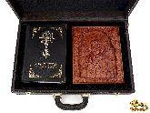 Библия с иконой в кожаном дипломате №2