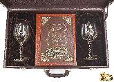 """Вино и еда краткий курс для гурманов в наборе с винными бокалами """"Виноград"""""""