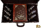Вино и еда краткий курс для гурманов в наборе с классической рюмкой (стекло)