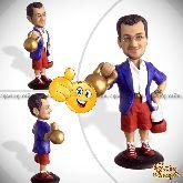 Кукла шарж боксеру «Железный удар»