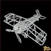 Ёлочная игрушка ручной работы пр-во Чехия Самолёт большой