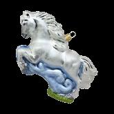 Ёлочная игрушка из Польши Конкурная лошадь
