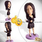 Кукла шарж подруге «В черном платье»