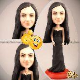 Кукла шарж женщине «В черном платье»
