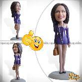 Кукла шарж женщине «Соблазнительная модель» 20см.