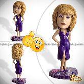 Кукла шарж женщине «В сиреневом платье»