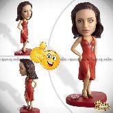 Кукла шарж женщине «В красном платье»