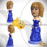 Кукла шарж женщине «В вечернем платье»