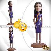 Кукла шарж женщине «Элегантная дама» 20см.