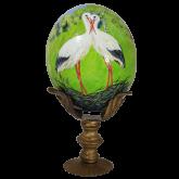 Пасхальное яйцо страусиное Аисты