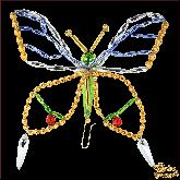 Ёлочная игрушка ручной работы пр-во Чехия Бабочка