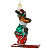 Ёлочная игрушка из Польши Северный олень на лыжах