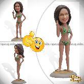 "Кукла шарж девушке ""Богиня пляжа"""