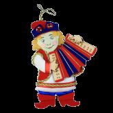 Дизайнерская игрушка Ванька с гормошкой