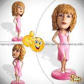 """Кукла шарж маме по фото """"В розовом платье"""""""