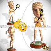 Кукла шарж теннисистке «Точный удар»