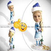 Кукла шарж женщине «Снегурочка»