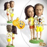 Кукла шарж паре «Лето нашей любви»