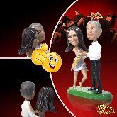 Кукла шарж паре «Страстное танго»