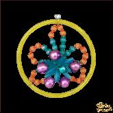 Ёлочная игрушка ручной работы пр-во Чехия Цветок в кольце