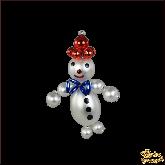 Ёлочная игрушка ручной работы пр-во Чехия Снеговик