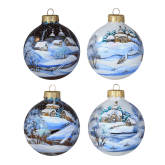 Набор ёлочных шаров ручной работы Снежная зима