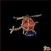 Ёлочная игрушка ручной работы пр-во Чехия Вертолет