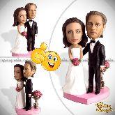 Кукла шарж паре «Свадебная композиция»