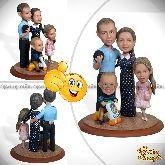 """Семейная кукла шарж """"Семья всегда рядом"""" 20см."""