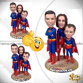 "Семейная кукла шарж ""Супер семейка"""
