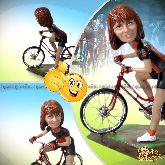 Кукла шарж велосипедисту «Быстрее ветра»
