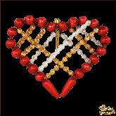 Ёлочная игрушка ручной работы пр-во Чехия Сердце