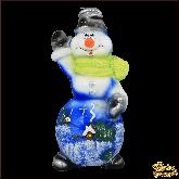 Свеча большая Снеговик