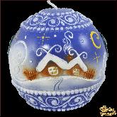 Свеча шар Заснеженный домик