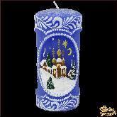 Свеча пенек Рождественская ночь
